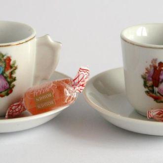 Эспрессо чашка+блюдце   на 2 перс. №2 50-e Китай
