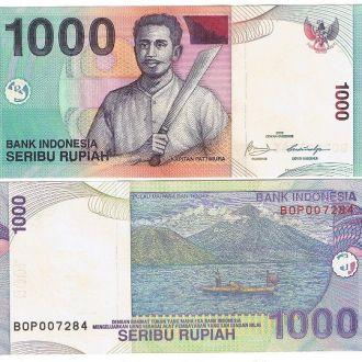 Indonesia Индонезия 1000 Rupiah 2009 UNC JavirNV