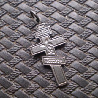 Крест серебро.1.6 гр.