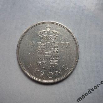 Дания 1 крона 1977SB