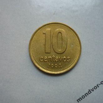 Аргентина 10 сентаво 1994 состояние
