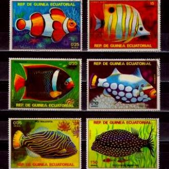 Фауна.Гвинея Экв.Рыбы 6м.Г10
