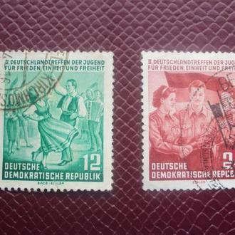 ГДР 1954г. гашеная.