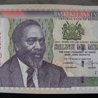 Кения 100 шиллингов UNC 2006 ZZ серия замещения