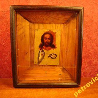 ИКОНА СПАСИТЕЛЮ . ИСУС  ХРИСТОС  ДЕРЕВО. КАРТОН (Р151) № 865