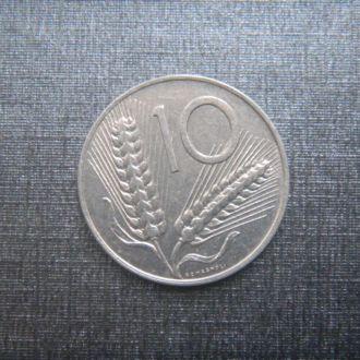 Италия 10 лир 1982