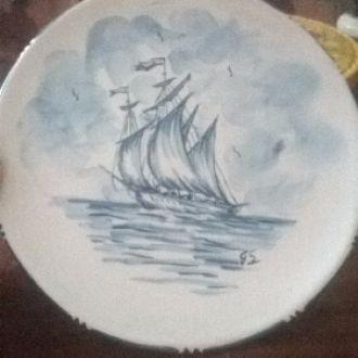 Тарелка на стену (морской мотив)