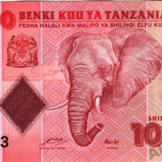 Танзания 10000 шиллингов 2010 г. в UNC ceрия АА