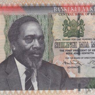 Кения 100 шиллингов 2010г. в UNC