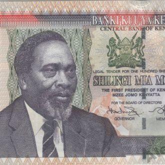 Кения 100 шиллингов 2009г. в UNC