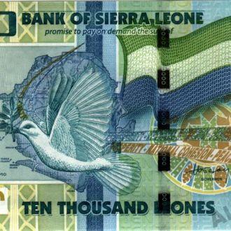 Сьерра-Леоне 10000 Leones 2010 в UNC