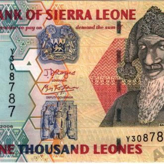 Сьерра-Леоне 1000 Leones 2006 в UNC