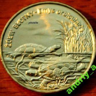Польша 2 злотих Черепаха 2002 рк