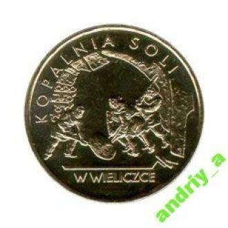 Польша 2 злотих (злотых) Копальня Соли   2001