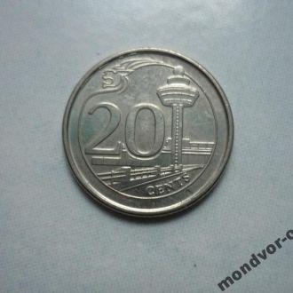 Сингапур 20 центов  2013 состояние
