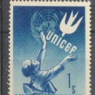Австрия 1949 ЮНИСЕФ птицы **