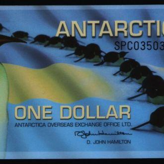 Антарктика / Antarctica 1 dollar 2011 г UNC