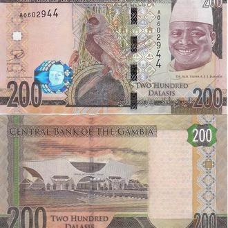 Gambia Гамбия - 200 Dalasis 2015 UNC JavirNV