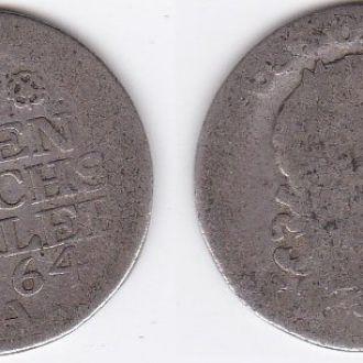 Germany Германия - 1/6 Reichsthaler 1764 - A VG