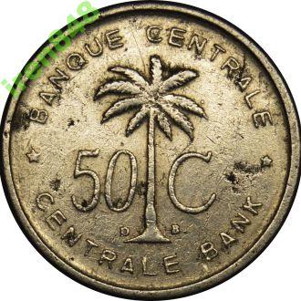Бельгийское Конго (Ruanda-Urundi) 50 centimes 1954