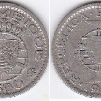 Mozambique Мозамбик 10 Escudos 1960 VG/F серебро