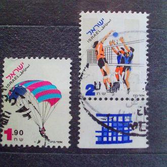 Израиль.1996г. Прыжки с парашютом, волейбол.