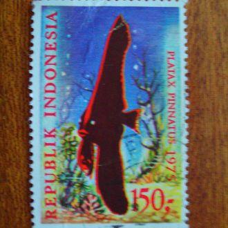 Индонезия.1975г. Морская фауна. КЦ 4,00 EUR! Последняя марка серии.