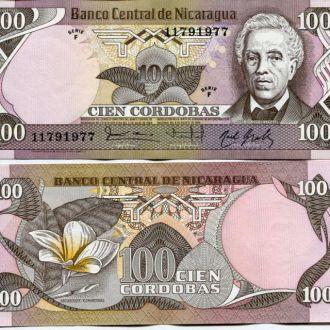Никарагуа 100 кордобас 1984 UNC пресс
