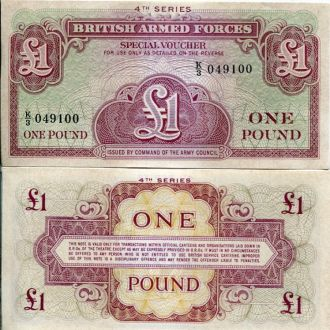 Великобритания 1 фунт 4я серия UNC пресс