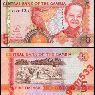 ГАМБИЯ 5 даласи 2013г. UNC