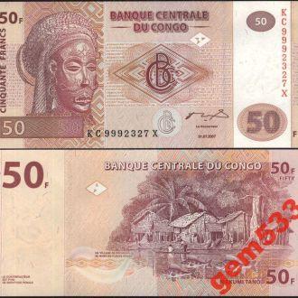 КОНГО 50 франков 2007г. UNC