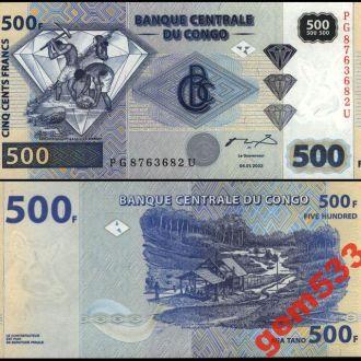 КОНГО 500 франков 2002г. UNC