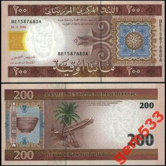 МАВРИТАНИЯ 200 оугуйа 2006г. UNC