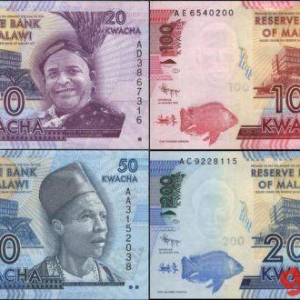 МАЛАВИ(20-50-100-200) набор банкнот 2012г. UNC