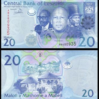 Lesotho / Лесото - 20 Maloti 2013 (2016)  - UNC