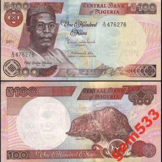НИГЕРИЯ 100 найра 2011г. UNC