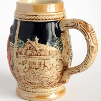 Коллекционный бокал 700 мл худож. керамика Germany