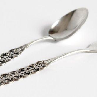 Вилочка и ложечка №5 серебро 800 1910-е гг. Norway