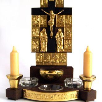 Антикварный Крест Алтарь Распятие 1970-е Germany