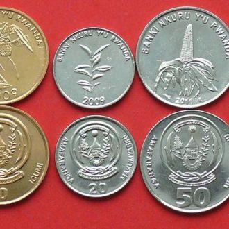 РУАНДА (2003-2011)- набор монет 5 шт UNC