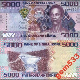 СЬЕРРА-ЛЕОНЕ 5000 леонес 2010г. UNC