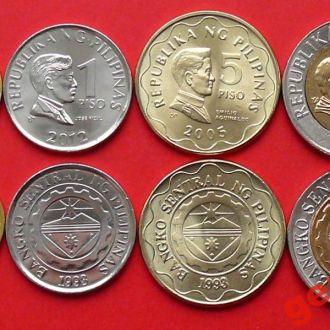 ФИЛИППИНЫ 2005-2012г- набор монет 4 шт UNC