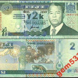 ФИДЖИ 2 доллара  2000г. UNC