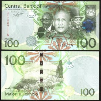 Lesotho / Лесото - 100 Maloti 2010 (2011) - UNC