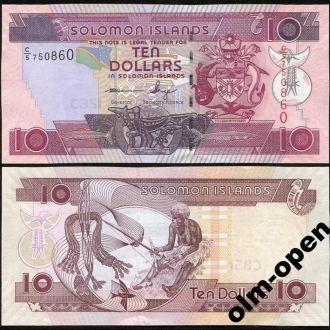 Solomon Is/ Соломоновы о-ва - 10 Dollars 2011 UNC