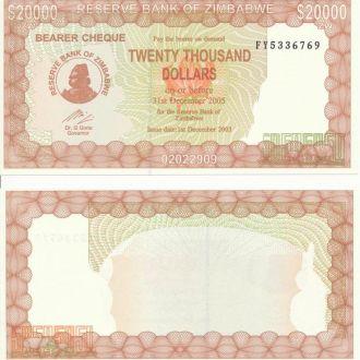 Zimbabwe / Зимбабве - 20000 Dollars 2003 - UNC OLM