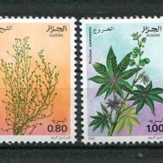 Алжир 1982 Серия ** Цветы Растения