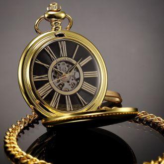 Карманные часы Kronen & Sohne позолота Germany