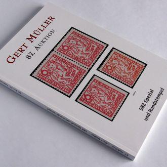 Каталог 87 филателистического аукциона Gert Muller