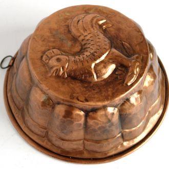 Антикварная форма для выпечки Hahn медь Germany